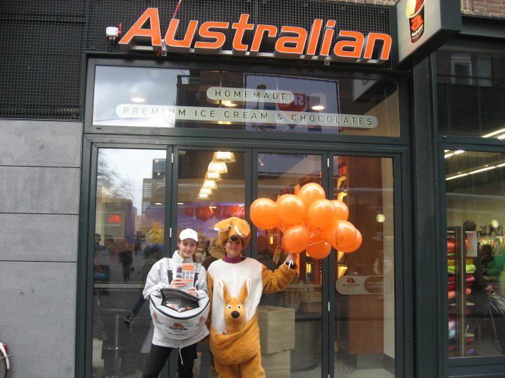 storetraffic promotie Australian ice cream