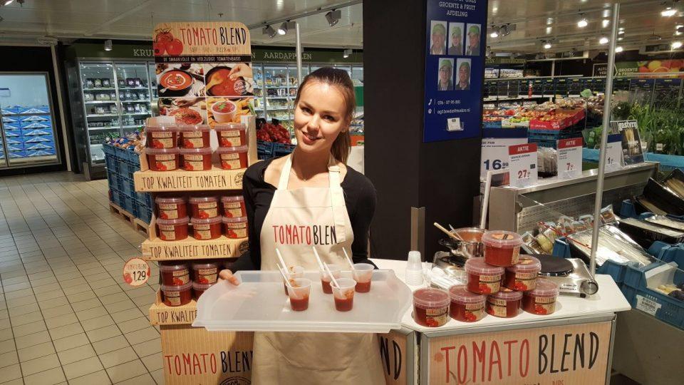 Breda instore demonstratie tomatoblend